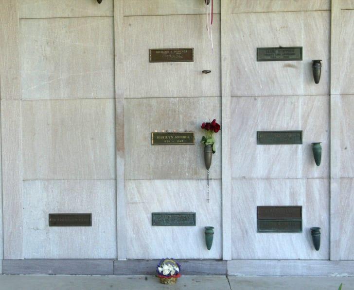 Marilyn Monroe's gravesite.