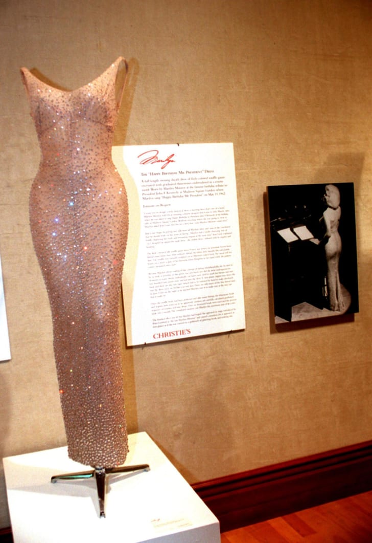 "Marilyn Monroe's famous ""Happy Birthday"" dress."