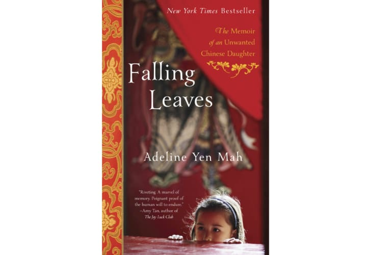 The cover of 'Falling Leaves' by Adeline Yen Mah