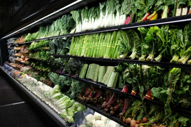 The produce aisle in a grocery store