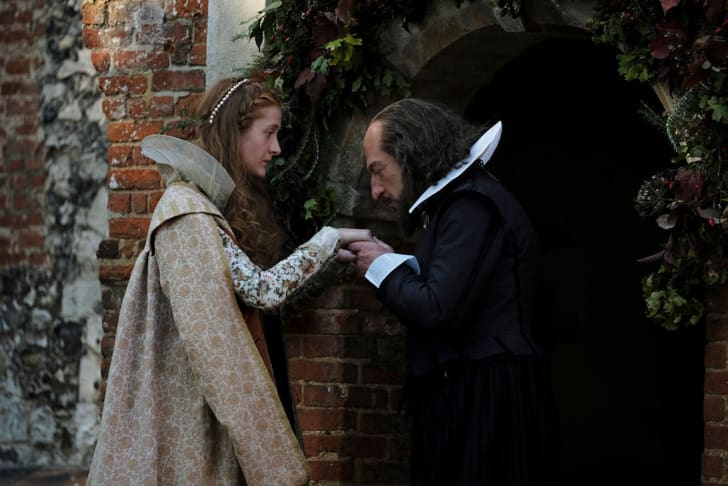 Kathryn Wilder as Judith Shakespeare, Kenneth Branagh as William Shakespeare in All is True (2019)