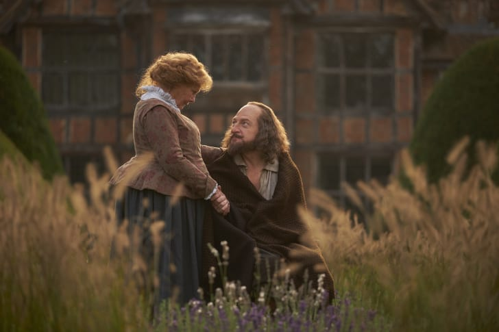 Judi Dench as Anne Hathaway and Kenneth Branagh as William Shakespeare in 'All Is True'