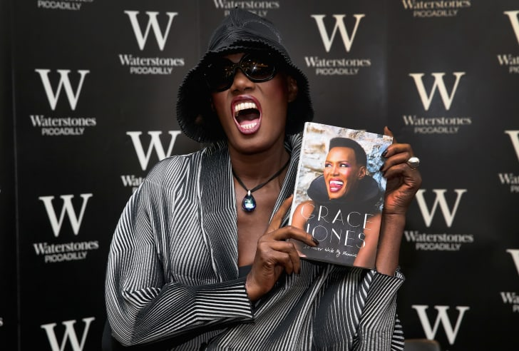 Grace Jones attends a signing of her memoir in 2015.