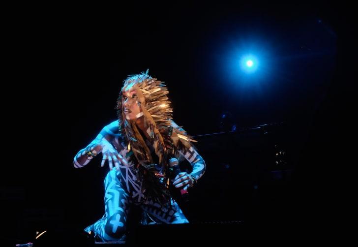 Grace Jones performs in Los Angeles in 2016.