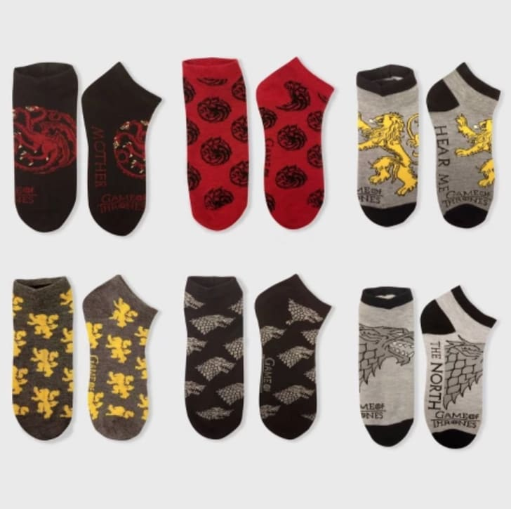 A six-pack of 'Game of Thrones' socks