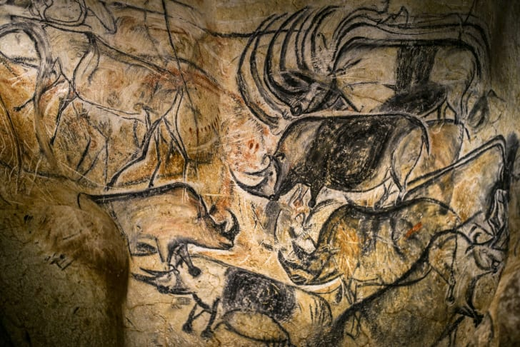 Replica of the Chauvet Cave paintings