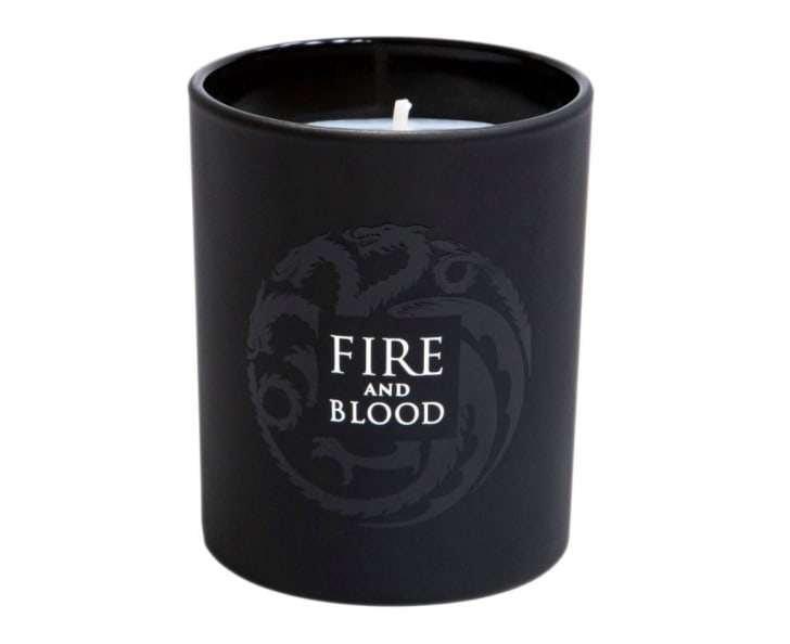 A 'Game of Thrones'-inspired 'Fire and Blood' candle