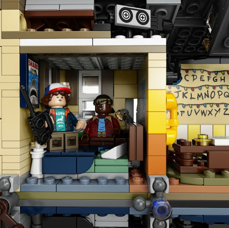 LEGO minifigures of Dustin Henderson and Lucas Sinclair from the LEGO 'Stranger Things' playset are pictured