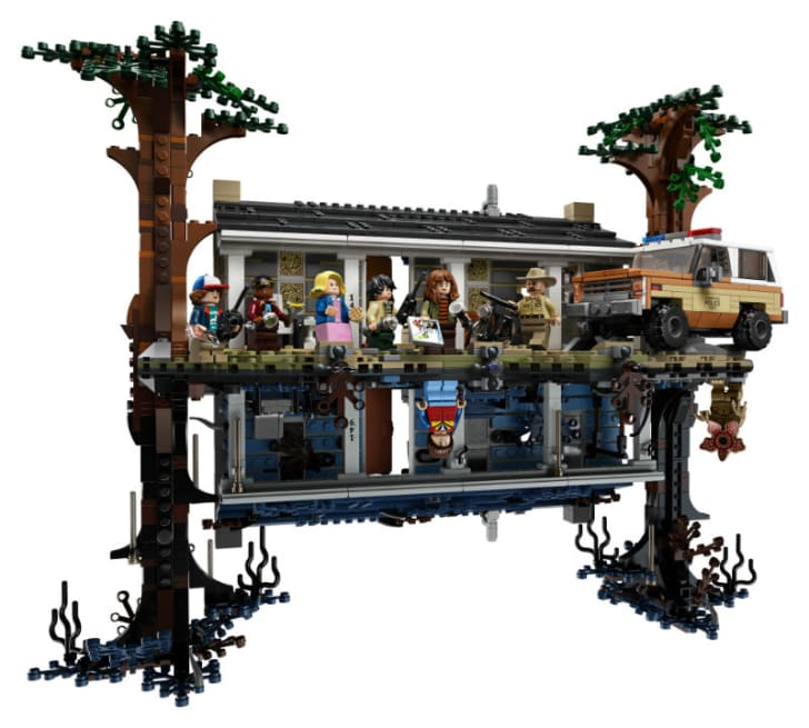 The LEGO 'Stranger Things' playset is pictured