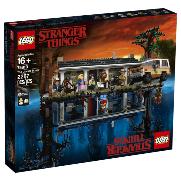 The packaging for the LEGO 'Stranger Things' playset is pictured