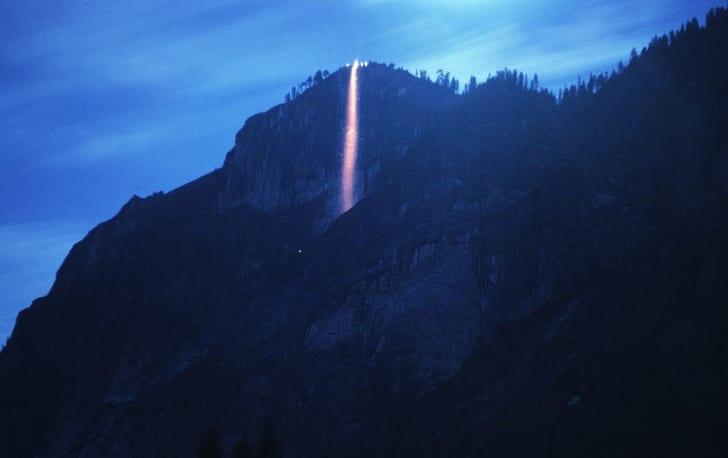 The firefall at Yosemite