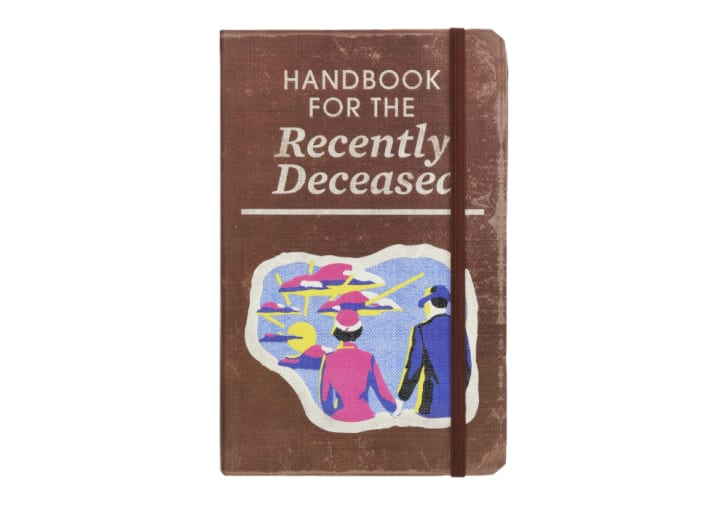 The cover of the 'Beetlejuice: Handbook for the Recently Deceased' journal