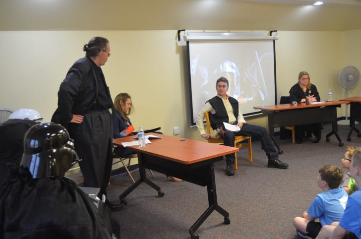 A scene from the mock trial of Luke Skywalker at Pittsburgh's Dormont Public Library