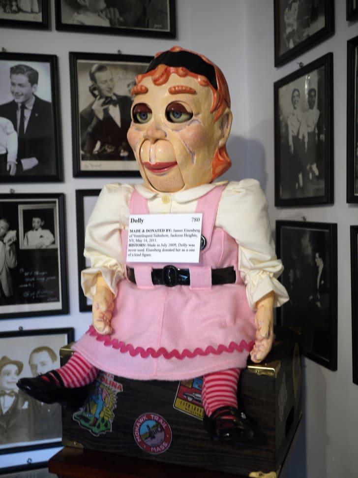 A ventriloquist dummy