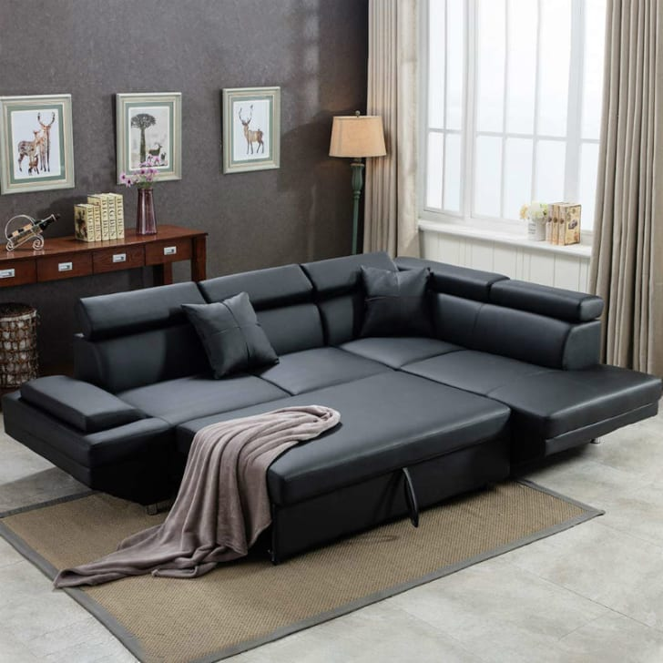 An FDW sectional sleeper sofa in a living room