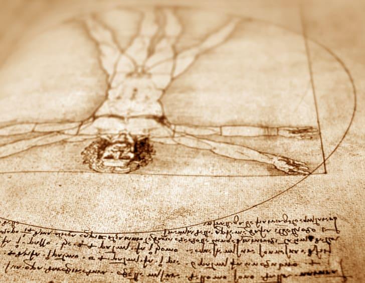 "Leonardo Da Vinci's ""Vitruvian Man"""