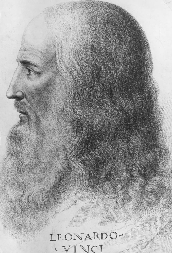 Portrait of Leonardo Da Vinci circa 1515.