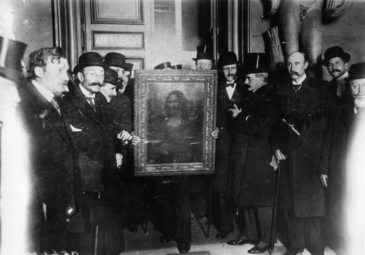 The Mona Lisa in 1914.