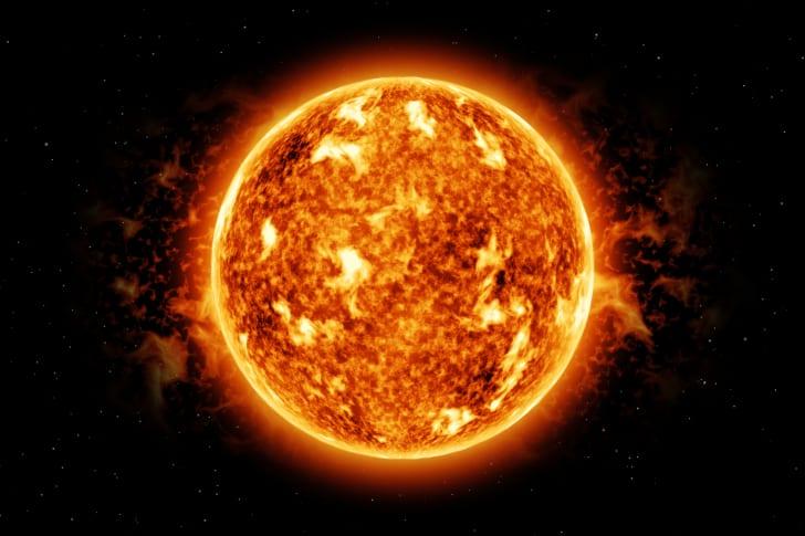 Artist's rendering of the sun
