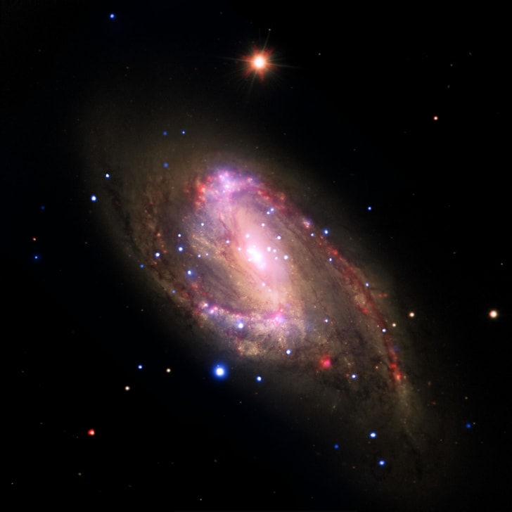 Black hole at the center of a spiral galaxy