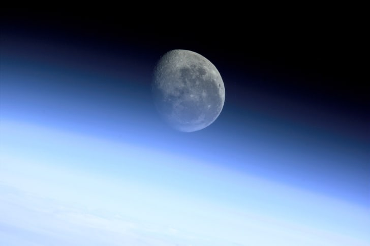 Earth's Moon from the International Space Station