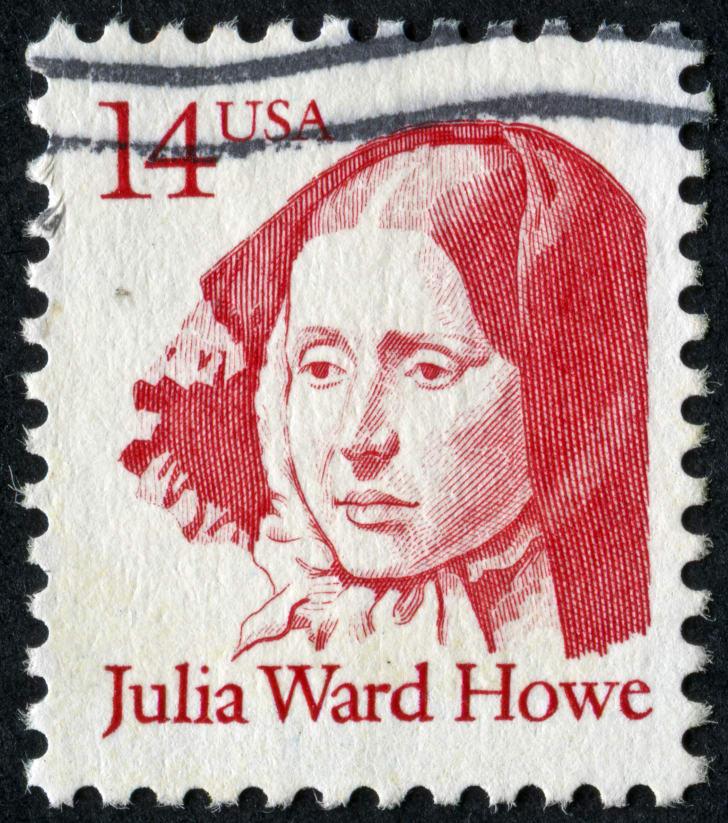 A stamp depicting Julia Ward Howe