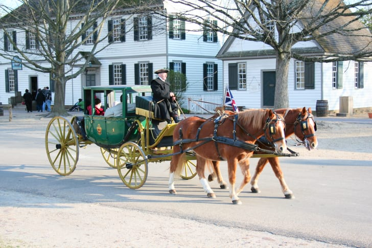 A carriage in Colonial Williamsburg.