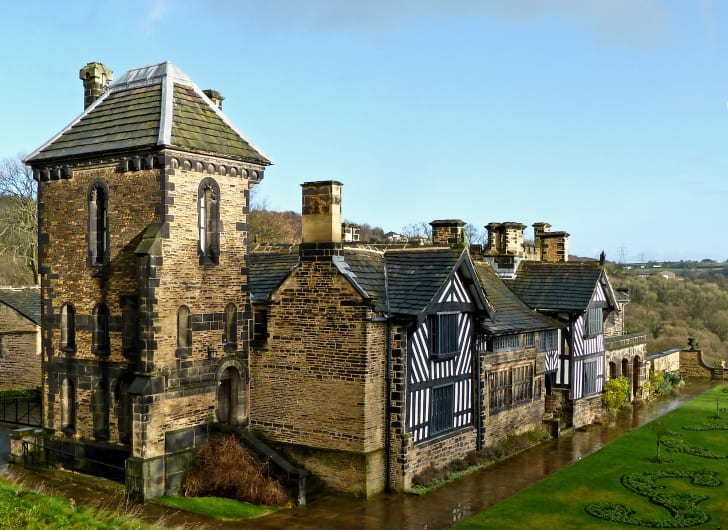 A photo of Shibden Hall in Shibden, West Yorkshire, England
