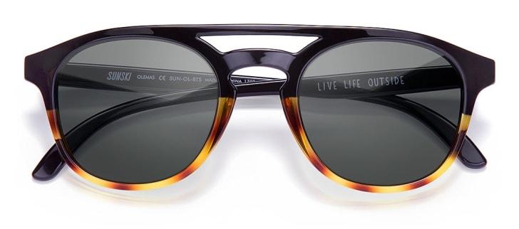 A pair of tortoiseshell sunglasses