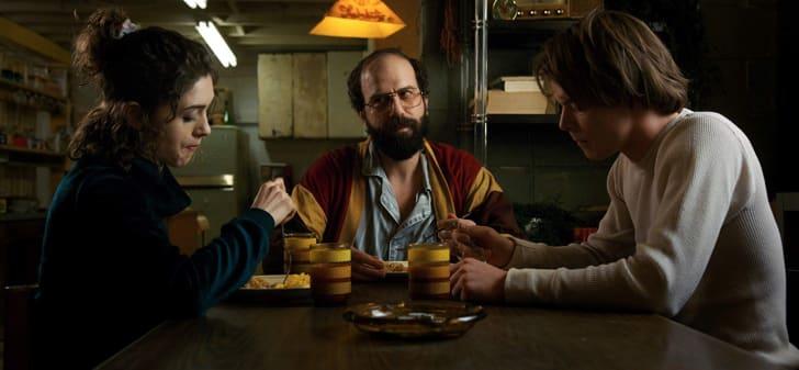 Brett Gelman, Natalia Dyer, and Charlie Heaton in Stranger Things