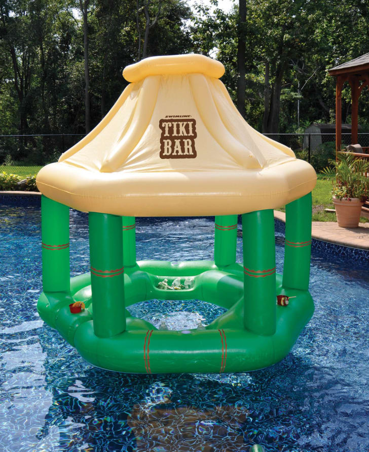 Inflatable swim up bar