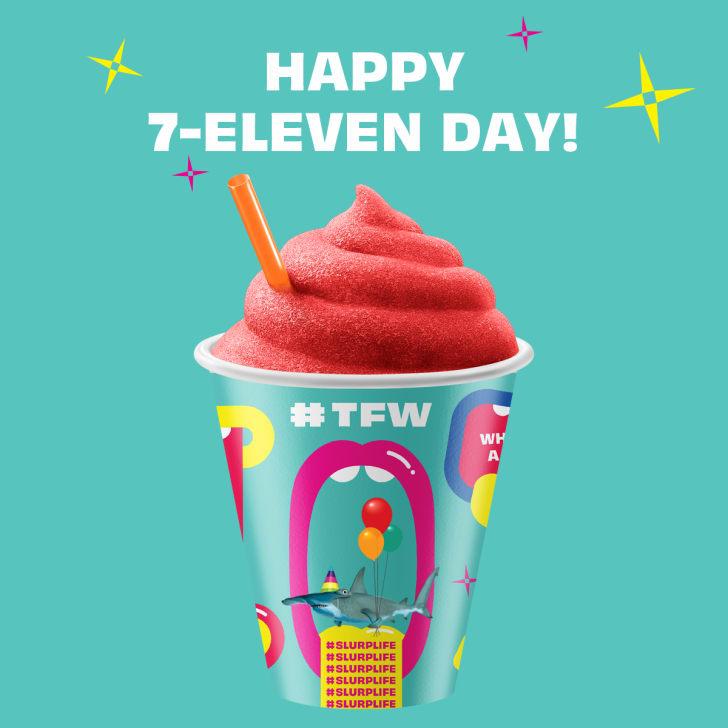 Happy 7-Eleven Day image with Slurpee