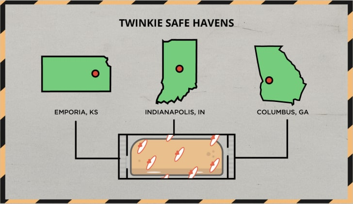 Twinkie Safe Havens Map