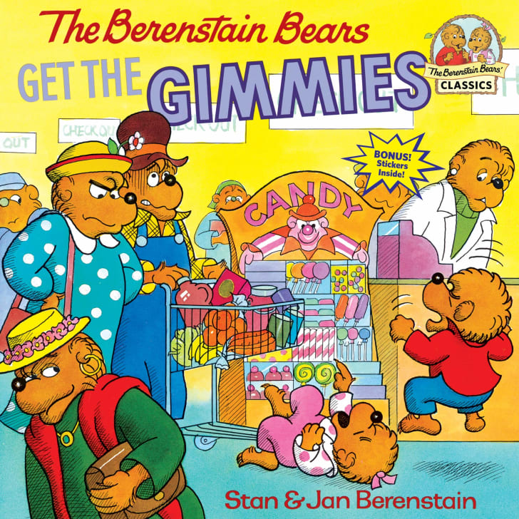 The cover of the book The Berenstain Bears Get the Gimmmies.