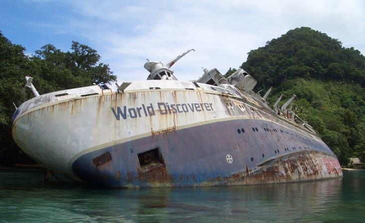 World Discoverer wreck off Guadalcanal