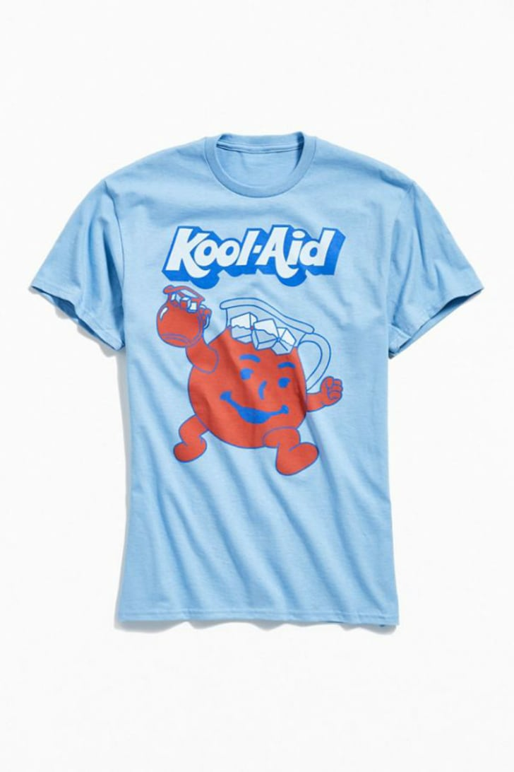 A t-shirt depicting the Kool-Aid Man is pictured