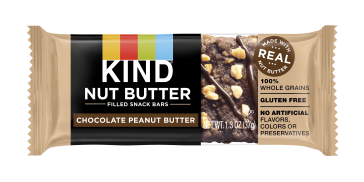 A KIND chocolate peanut butter snack bar