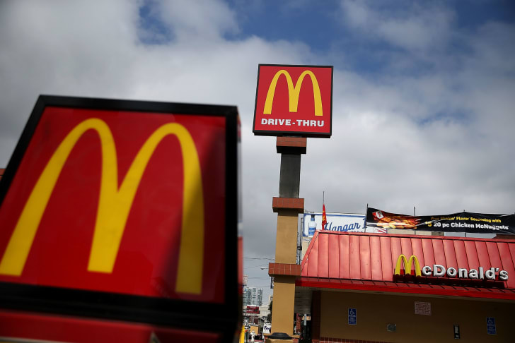 A McDonald's restaurant is pictured in San Francisco, California in April 2015