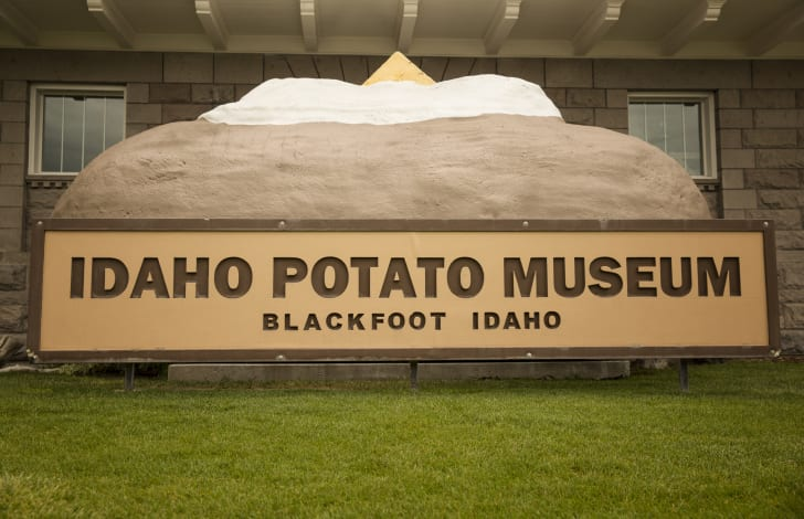 The exterior of The Idaho Potato Museum in Blackfoot, Idaho