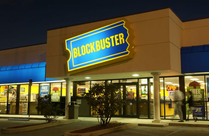 A Blockbuster Video in Miami, Florida is pictured in November 2002