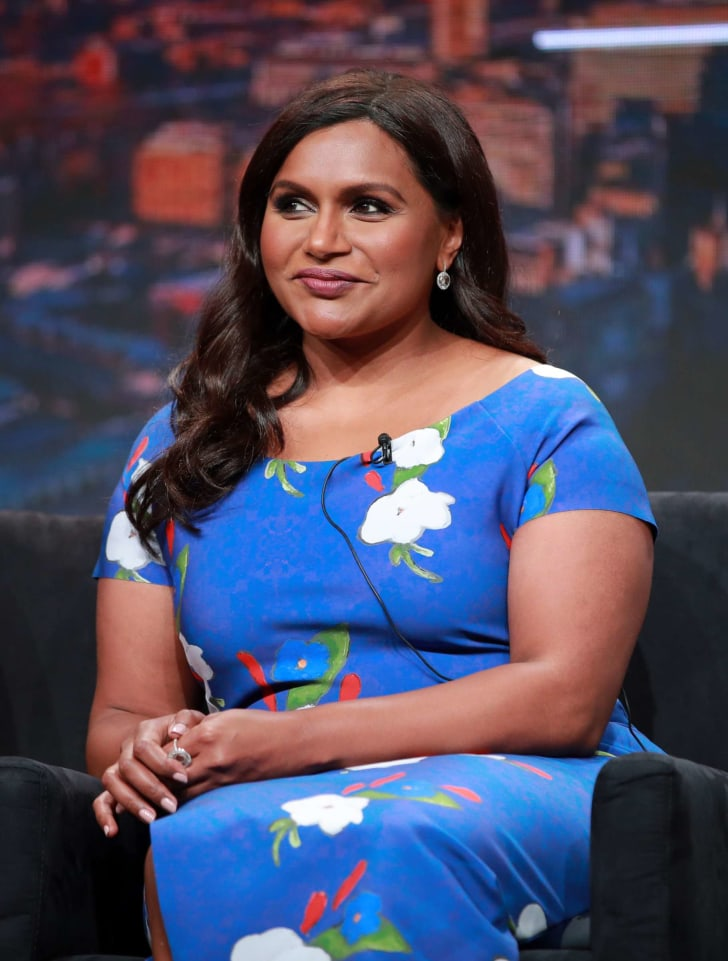 Mindy Kaling of 'Four Weddings and a Funeral' speaks onstage during the Hulu segment of the Summer 2019 Television Critics Association Press Tour in Los Angeles in 2019