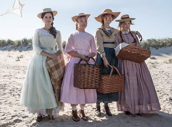 Emma Watson, Saoirse Ronan, Florence Pugh and Eliza Scanlen in Little Women (2019)