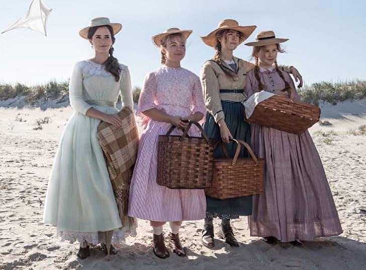 Emma Watson, Saoirse Ronan, Florence Pugh and Eliza Scanlen in Little Women (2019)