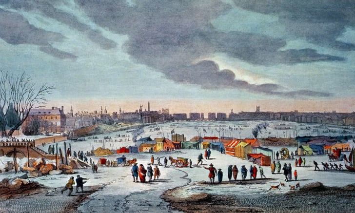 Frost Fair on the River Thames in the 17th Century