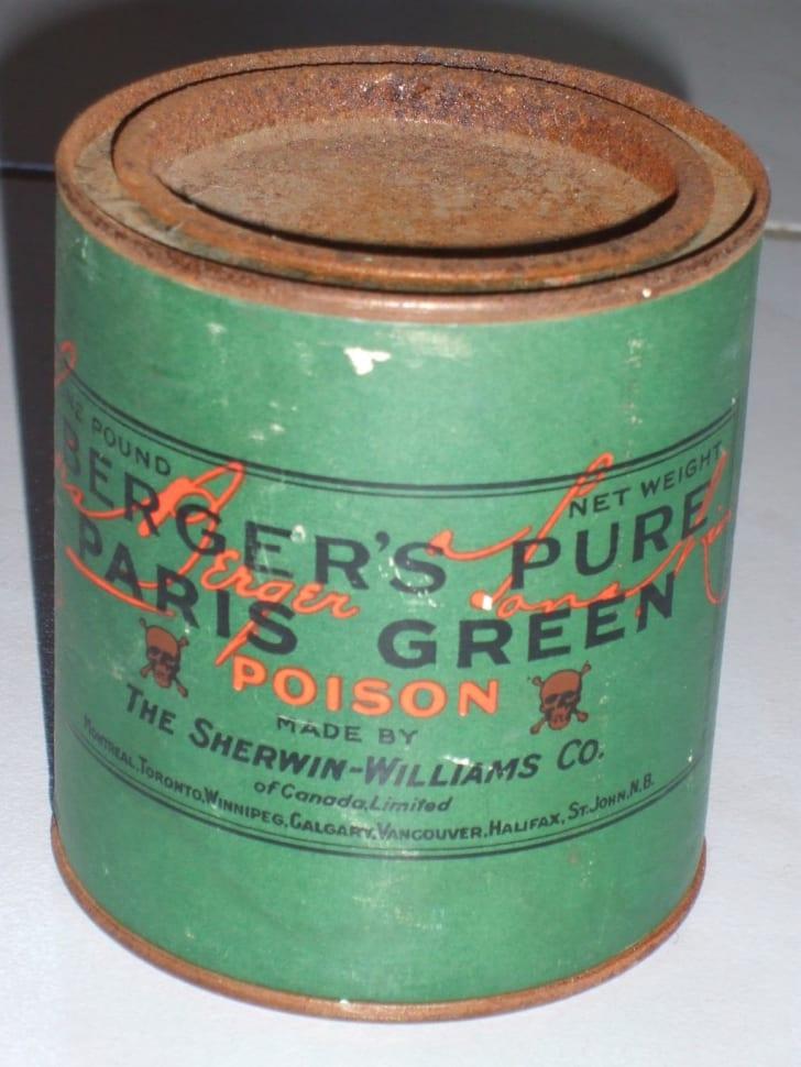A jar of poisonous Paris Green