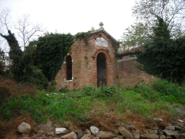 Ruins on the island of Poveglia, Italy