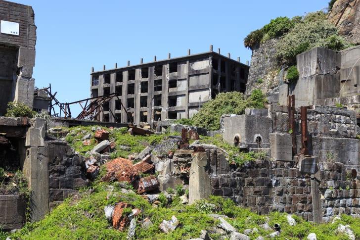 Ruins in Hashima Island, Japan