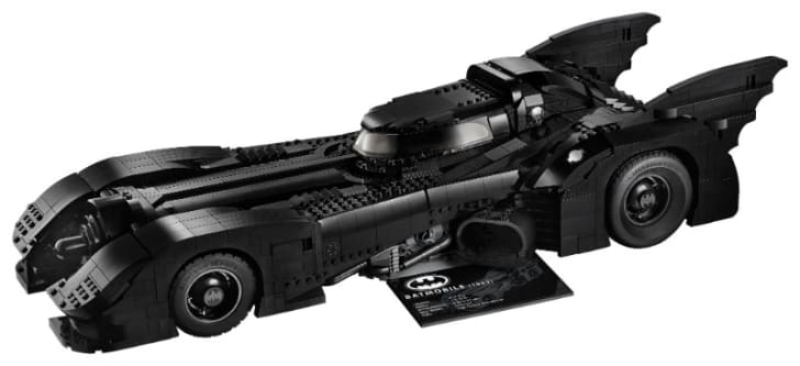 The LEGO DC Batman 1989 Batmobile is pictured