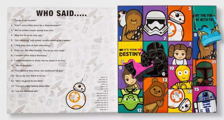 Star Wars sock Advent Calendar