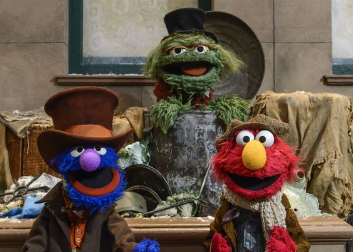 Grover, Oscar the Grouch, and Elmo from 'Sesame Street' are pictured